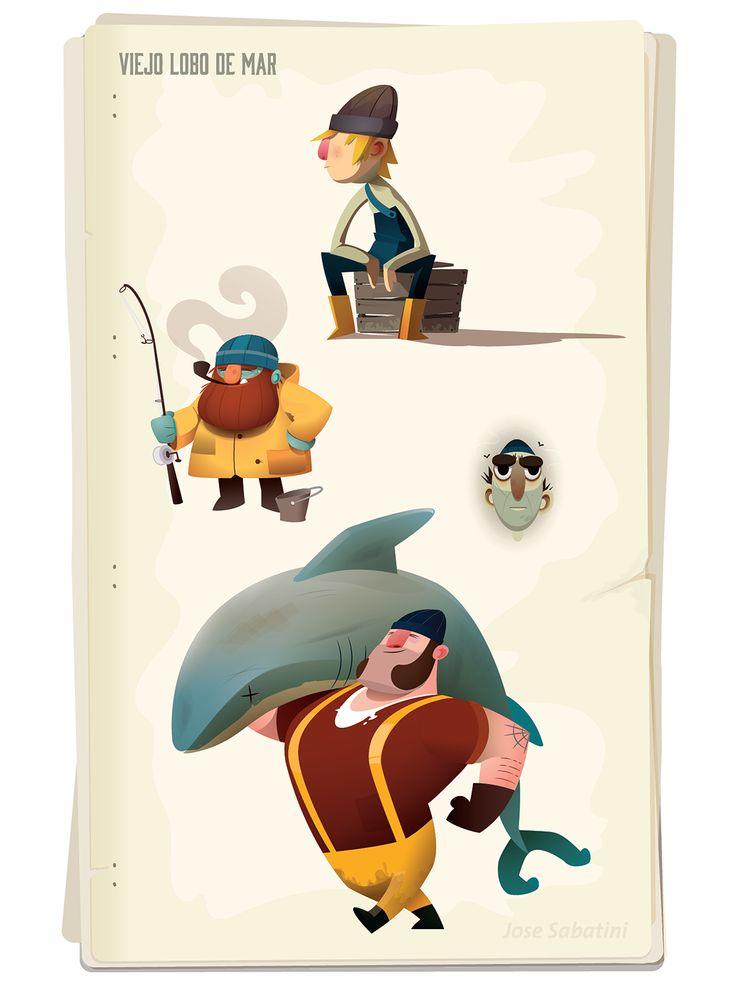 Viejo Lobo de Mar (Parte 2) on Behance http://www.davidemancinelli.it