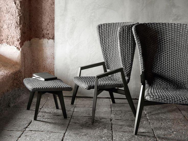 KNIT Fauteuil de jardin avec dossier haut Collection Knit by Ethimo design Patrick Norguet