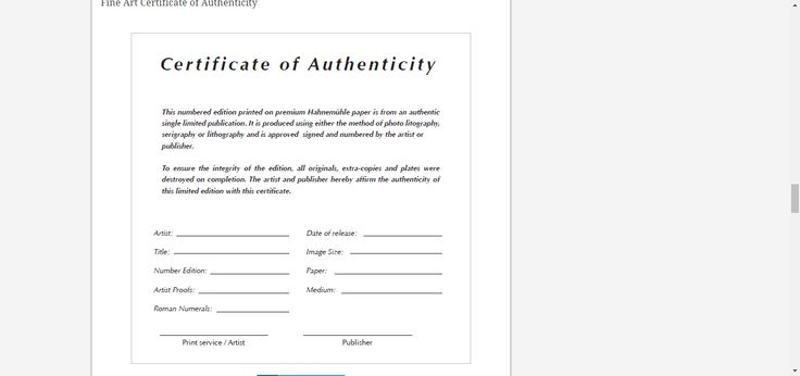 7 best certificate templates images on pinterest certificate 8 certificate of authenticity templates free samples examples format sample templates yelopaper Gallery