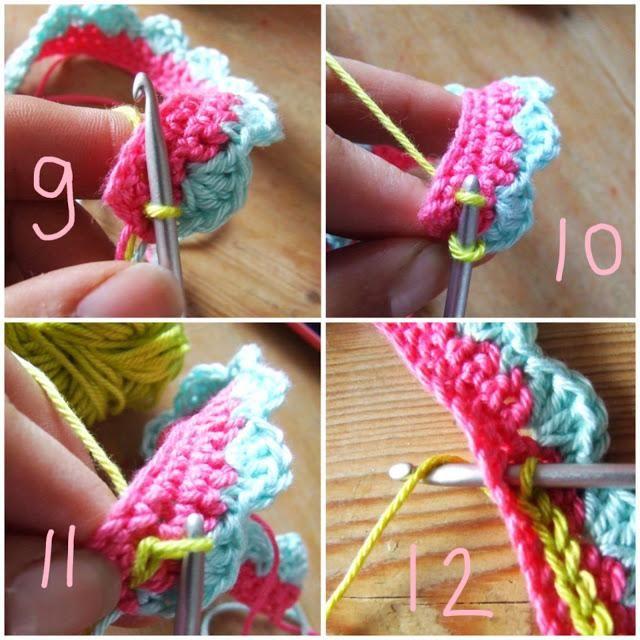 Cómo hacer bonitas pulseras de ganchillo. Luce una colorida pulsera hecha por ti. :)