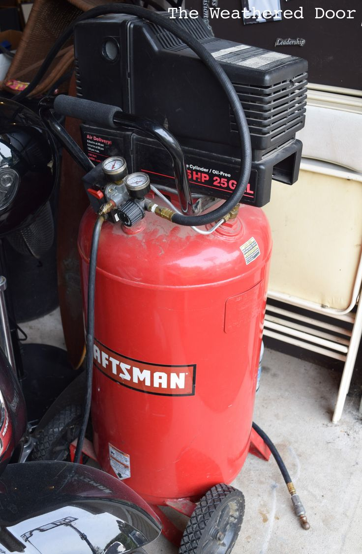 How I started Spraying Furniture - Craftsman 25 gallon air Compressor WD-1