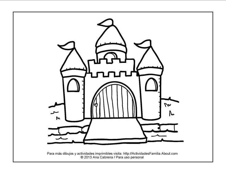 10 dibujos de princesas para imprimir y colorear: Castillo para