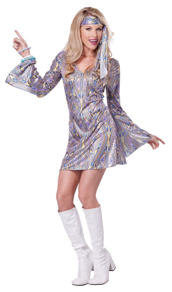 70 S Disco Dance Sensation Dancing Queen Outfit Adult Costume