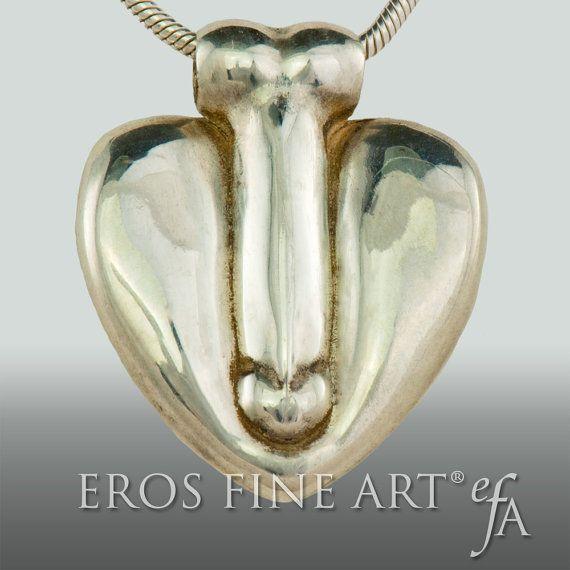 Pendentif coeur presque rejoint  exclusif érotique  par ErosFineArt