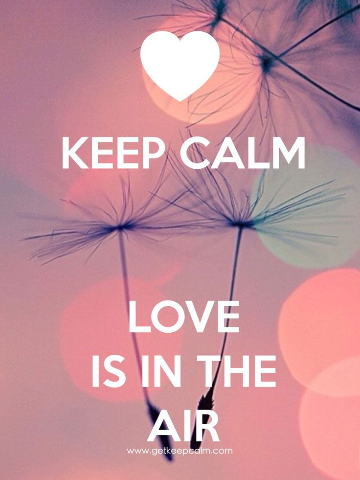 KEEP CALM LOVE IS IN THE AIR created by IEC