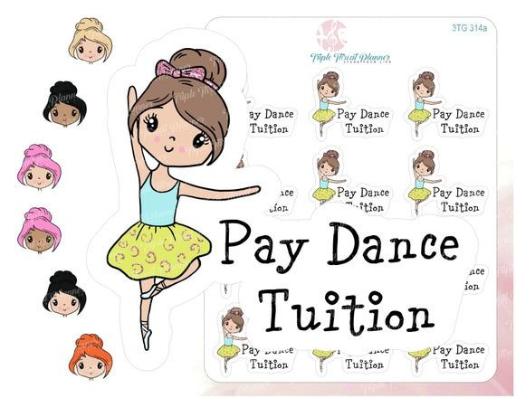 Dance Stickers Ballet Pay Tuition In 2019 Dance Ballet Stickers