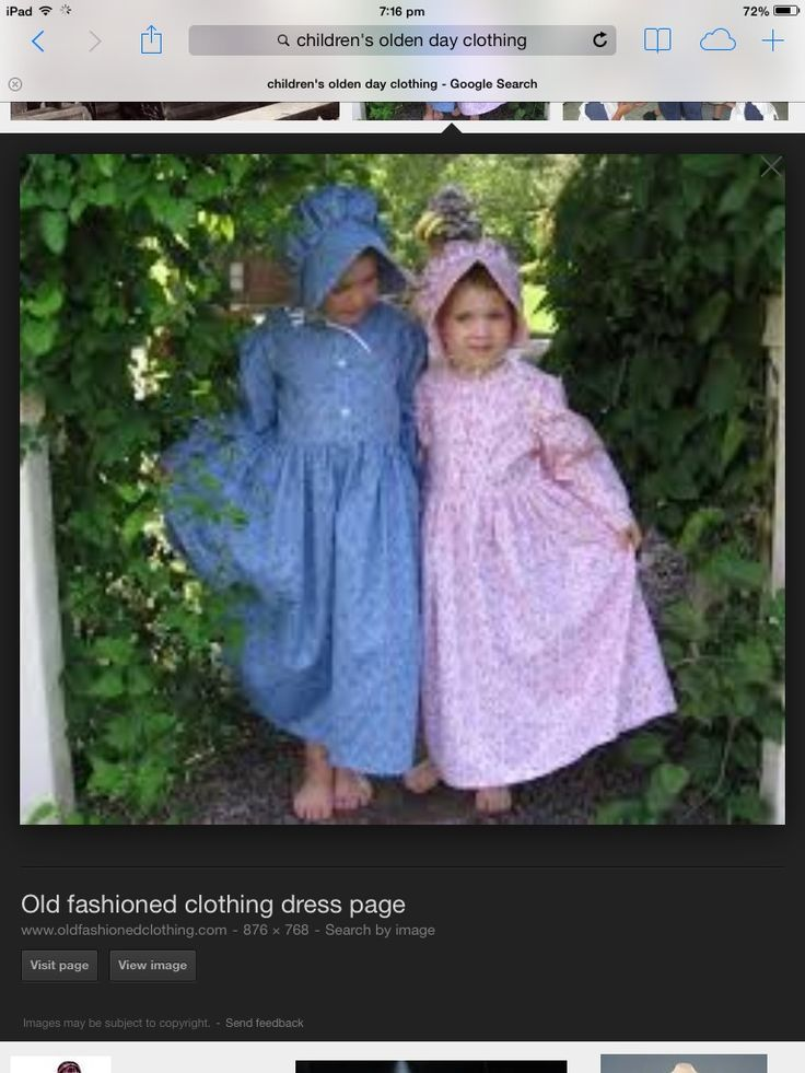Olden day clothes | Olden day clothes | Pinterest