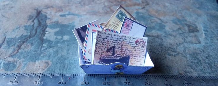 Miniature Letters, Dolls House Accessories. Dolls Miniature Accessories, Miniature Accessories, Handmada Miniatures, Dolls House, Dollhouse by SpryHandcrafted on Etsy