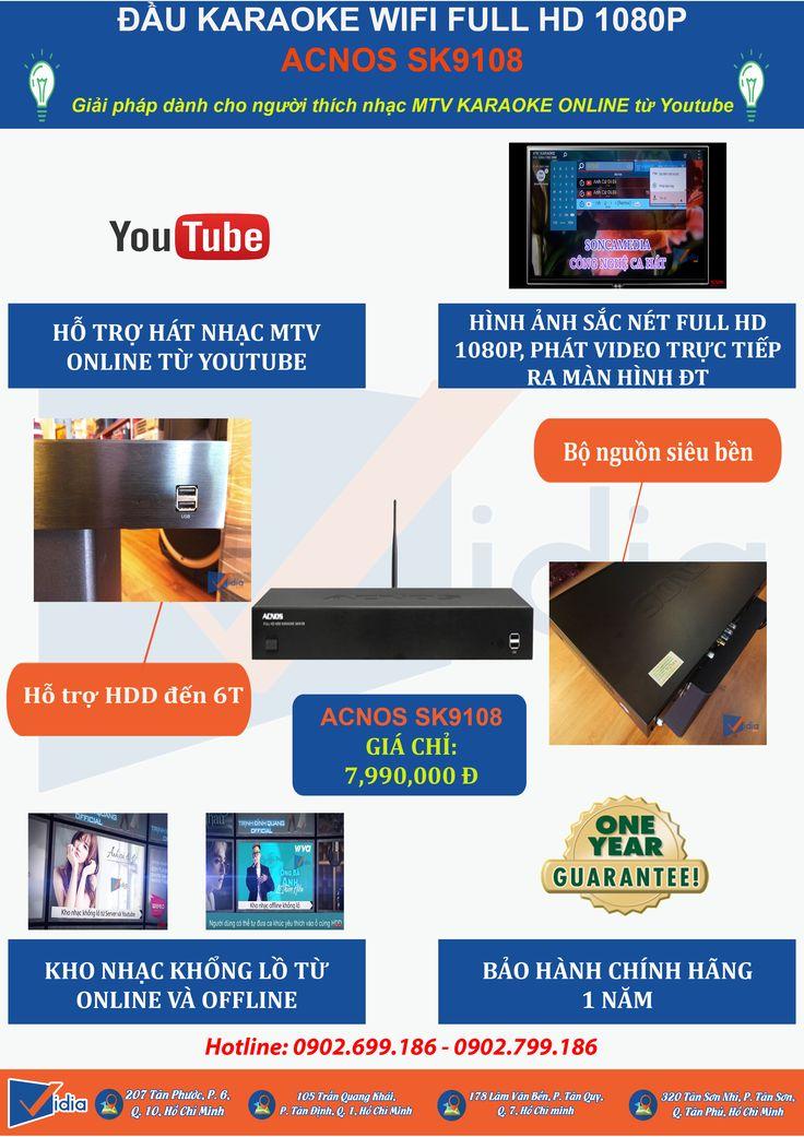 Kinh Doanh Karaoke Mà: Không Có Nhạc Mới, Hình Ảnh Xấu Nhòe Không Sinh Động. Bởi Vì Đầu Karaoke Của Bạn Quá Cũ! Tới Vidia Thay Mới Ngay Nào. Vidia Đặc Biệt Chọn Ra Đầu Karaoke Acnos Sk9108 Cho Bạn! Đầu Karaoke Tầ Trung Hot Nhất 2016 Khách Hàng Thích Thú Tìm Được Và Hát Ngay Những Bài Nhạc Online Hình Ảnh Hd Sắc Nét Không Khác Gì Màn Hình Ngoài Rạp Chiếu Phim Bạn Còn Chờ Gì Nữa Mà Không Rước Ngay Em Nó Về -  Đăng Ký Nhận Tư Vấn Online Tại: http://kinhdoanh.daukaraokebanchay.com/