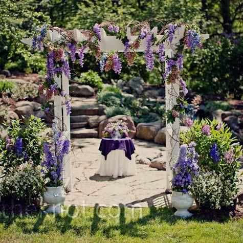 garden wedding with purple flowers garden wedding pinterest arbors purple flowers and. Black Bedroom Furniture Sets. Home Design Ideas