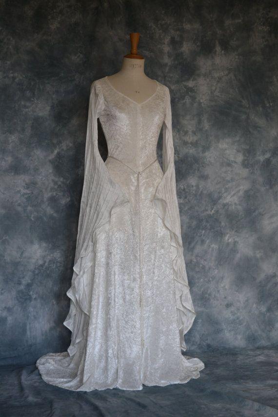 Elvish DressMedieval Gown Gothic Dress Pagan Dress by frockfollies