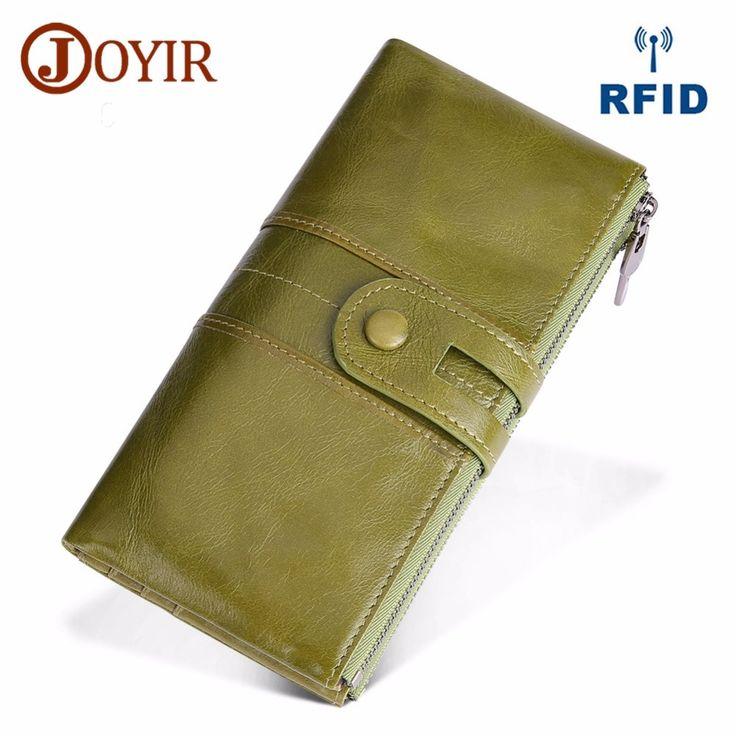 Photo of JOYIR Design Unisex Women Clutch Wallets Genuine Leather Male Women's Long W…