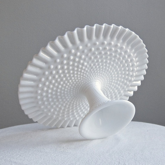 My favorite thing: milk glass!Milk Glass Wedding Cake Stand, 1970s - I got this from Julie at Christmas time!!!! Love it!