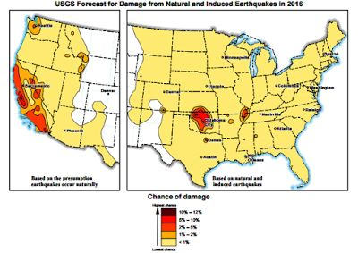 USGS: Risk of 2016 quake increases, especially in Oklahoma | Geology IN