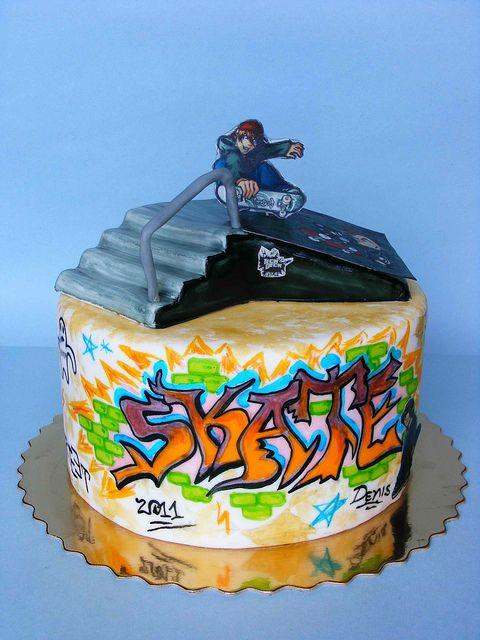 Skate cake by bubolinkata, via Flickr
