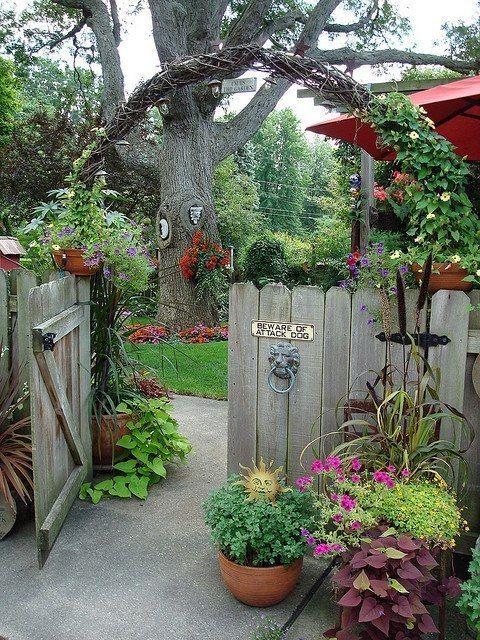 Lovely garden entry/archway