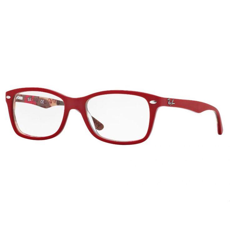 A Ray Ban Wayfarer 5228 5406, tem seu formato Retr?, na cor vermelho fosco