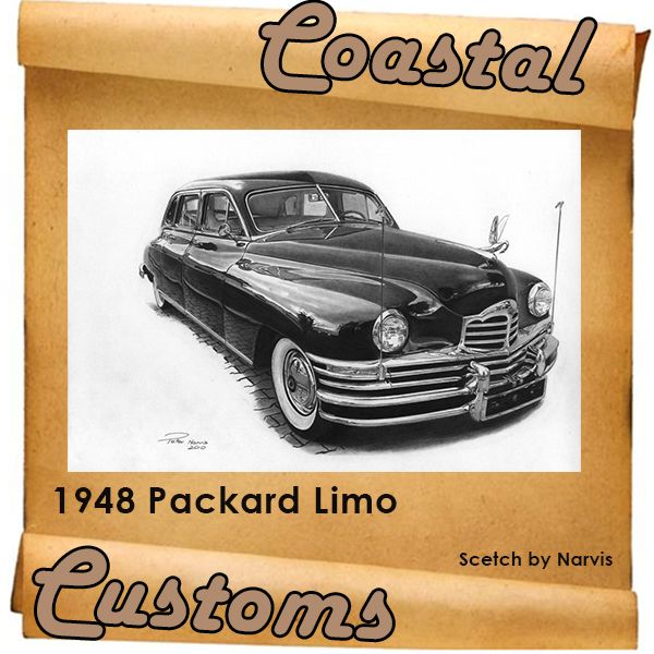 """The 1948 #Packard Limo is built on a 148"""" wheelbase, and is about as big as cars ever got. The 18th MIDAS George Old Car Show will take place on 8th and 9th February 2014 at the PW Botha College in York Street, George. We will be there, visit us. Contact us for more info: 044 697 7583 #vintagecars, #custombuild"""