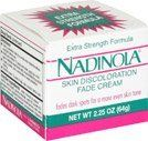 Nadinola Skin Discoloration Fade Cream Extra Strength Formula, 2.25 oz (Pack of 3) by Nadinola. $20.47. Fades dark spots for a more even skin tone. Moisturizes and conditions your skin. Gradually fades skin discolorations such as age spots, freckles, liver spots, dark areas that can occur while using oral CONTRACEPTIVES.  Fades dark spots for a more even skin TONE  MOISTURIZES And conditions your skin, leaving it soft, smooth, And more radiant