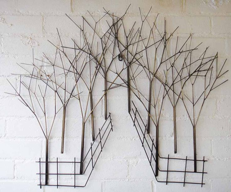 Love playing with wires? Like a metallic look? Try this metal Wall Art - Walk In The Woods Tree Scene