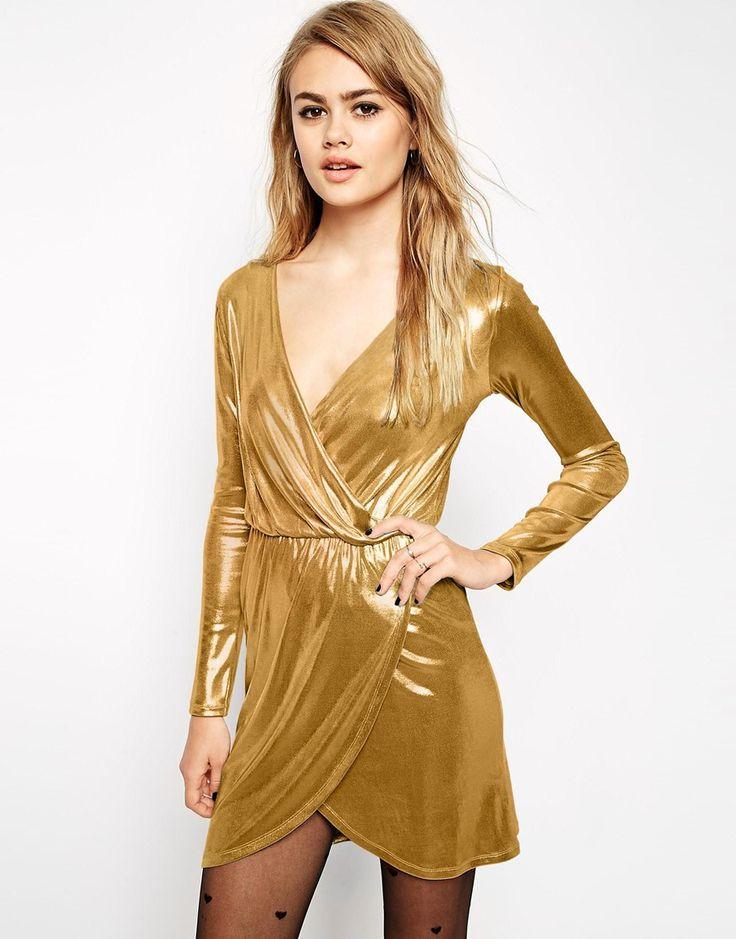 Image 1 ofASOS Sexy Wrap Mini Dress
