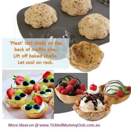 [Cooking with Kids] Make some tart shells with your kids today! It's so easy to make and you can use them for anything – ice cream, custard and fruit, anything! Your kids are going to love them!