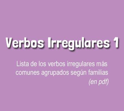 Verbos Irregulares Lista 1