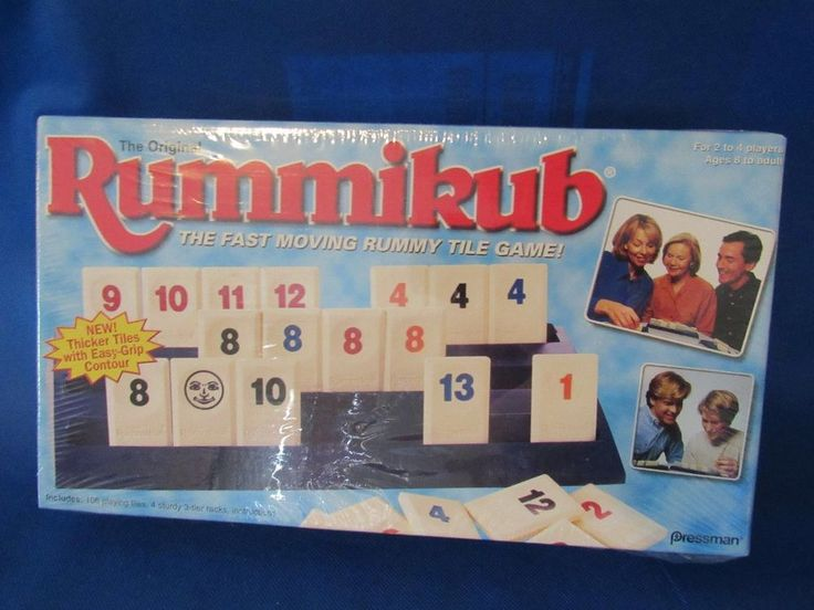 Rummikub – The Original Fast Moving Rummy Tile Game – Thicker Tiles - NEW Sealed #Pressman