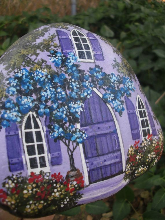 A PLACE for PURPLE Passion hand painted rock art by MyGardenRocks
