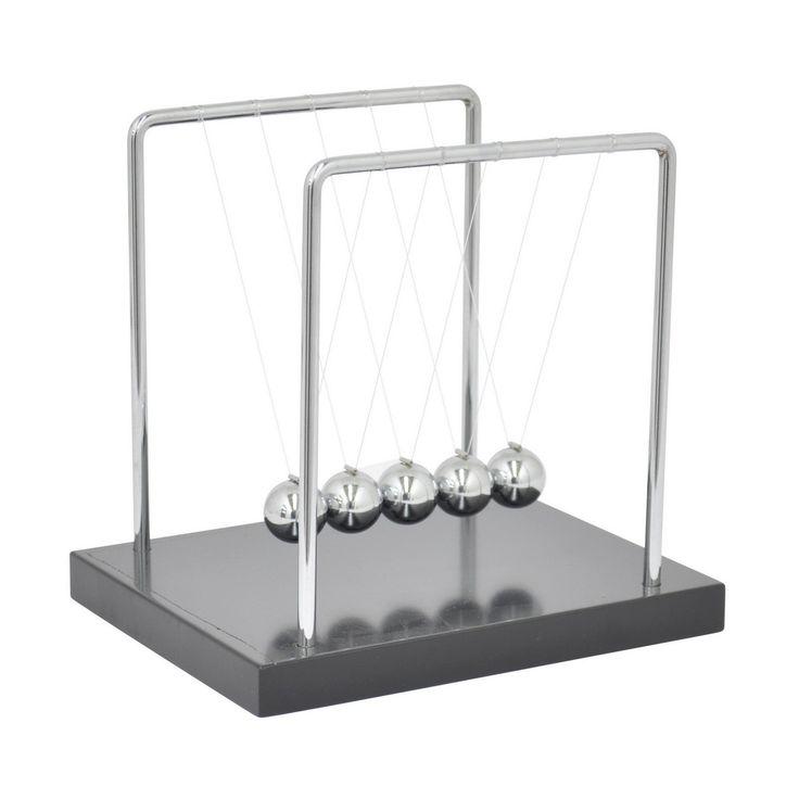 Three Hands Newton's Cradle Silver/ Accent Piece