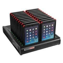 The PARASYNC i20 for the iPad Mini is a 20-unit charging and synchronisation dock, that is bundled with 20 protective device cases It is the only cable-free sys