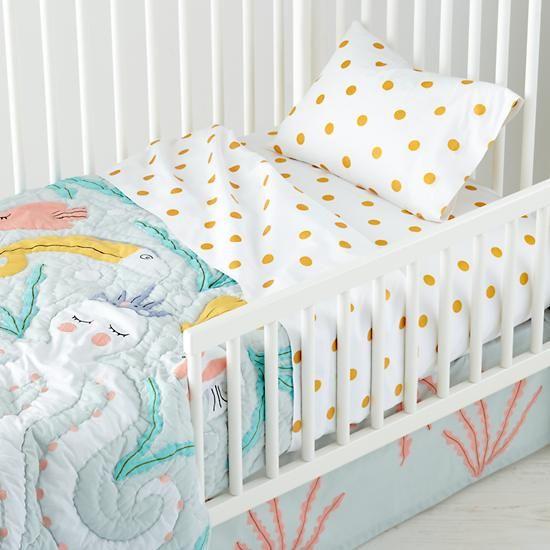 The Land of Nod   Toddler Sheets: Marine Octopus Sheet Set in New Kids Bedding