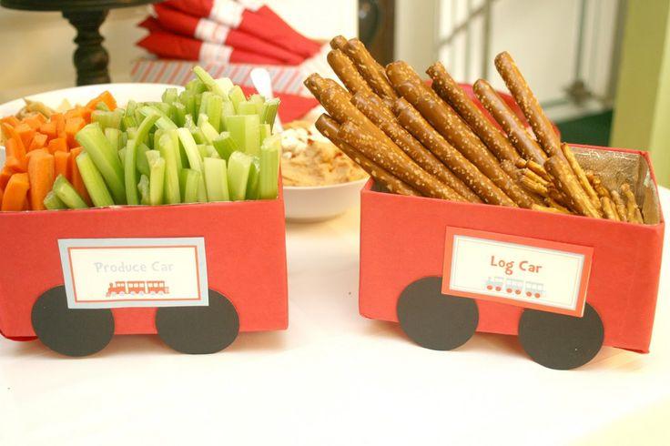 Train Themed Birthday Party Food