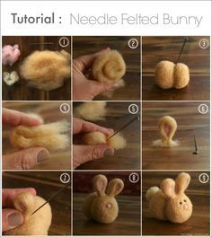Needle Felted Bunny Tutorial : www.theMagicOnions.com