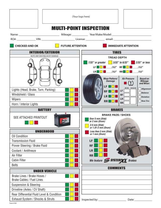 picture about Free Printable Vehicle Inspection Form identify Cost-free Printable Motor vehicle Inspection Variety - Totally free Obtain