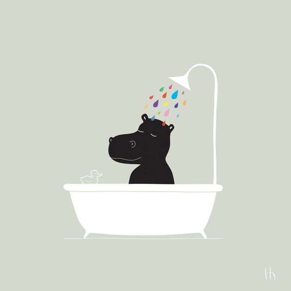 cute for a bathroom - The Happy Shower print