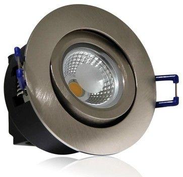 Directional 5Watt COB LED Recessed Ceiling Light -Silver, Warm White - modern - Recessed Lighting Kits - TorchStar LED Illumination Solution