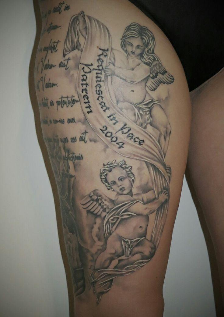 Angels tattoo, rip, healed