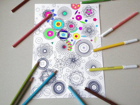 mandala pagina da colorare per adulti mandala zen meditazione stampare hippie stampabile instant download disegno digitale lasoffittadiste