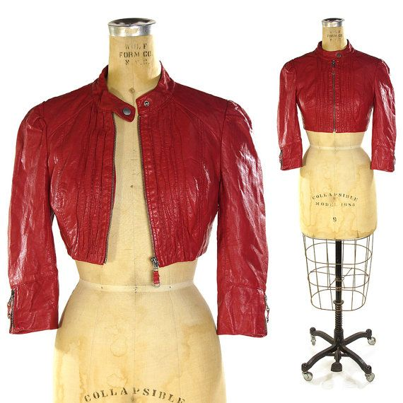 90s rosa chaqueta de cuero vegano / Vintage de por SpunkVintage