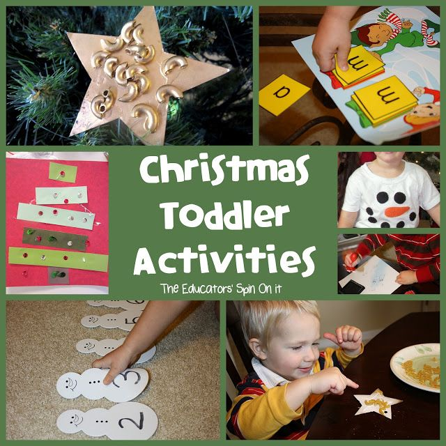 Christmas Activities for Toddlers and Preschoolers from The Educators' Spin On It