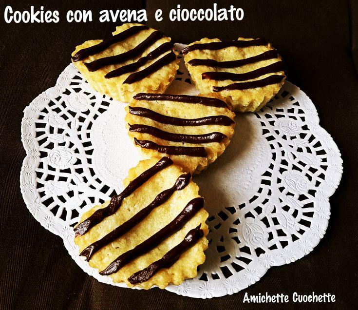 Cookies con fiocchi di avena e cioccolato