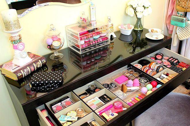 9 Maneras de Organizar tu Maquillaje