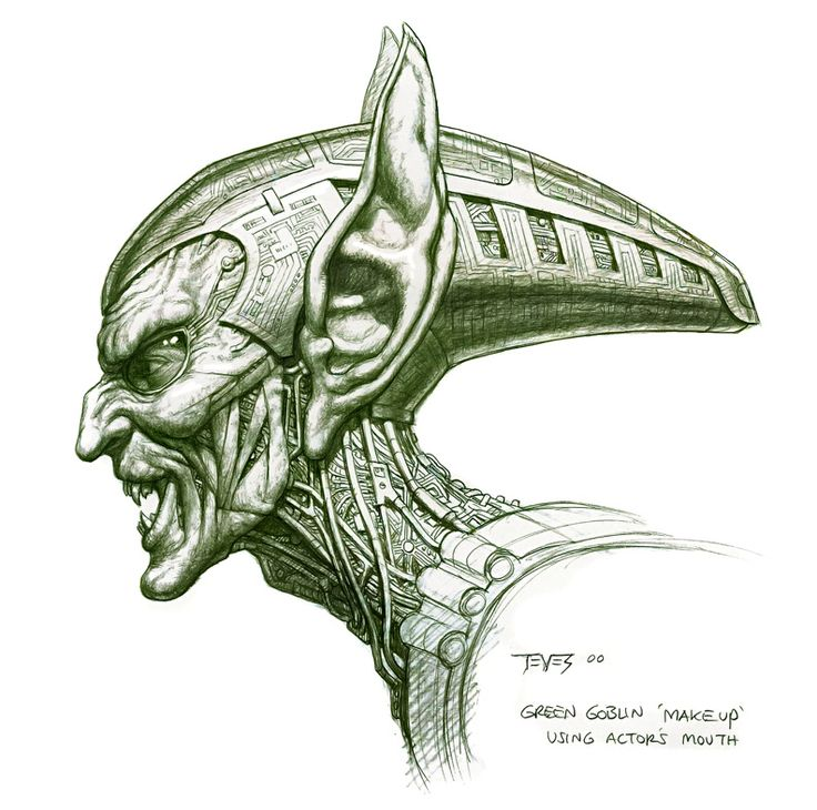 green goblin | Unused 'Spider-Man' Green Goblin and Female Goblin Concept Designs by ...