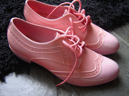pretty sure these are melissa shoes (rubber)