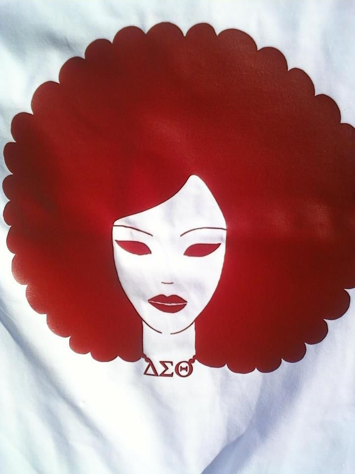 I love this graphic!Delta Sigma Theta Shirts, Red, Dst Divas, Nature Dst, Theta Sorority, Beautiful, Graphics, Delta Girls, Hair
