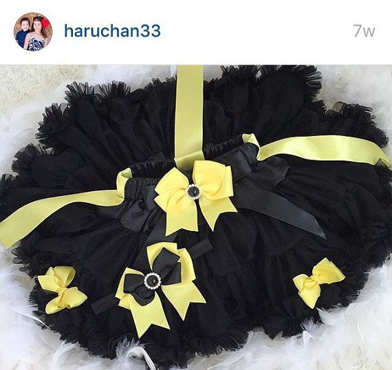 3-pcs set Yellow and black tutu by HaruHoneyBeeCreation on Etsy