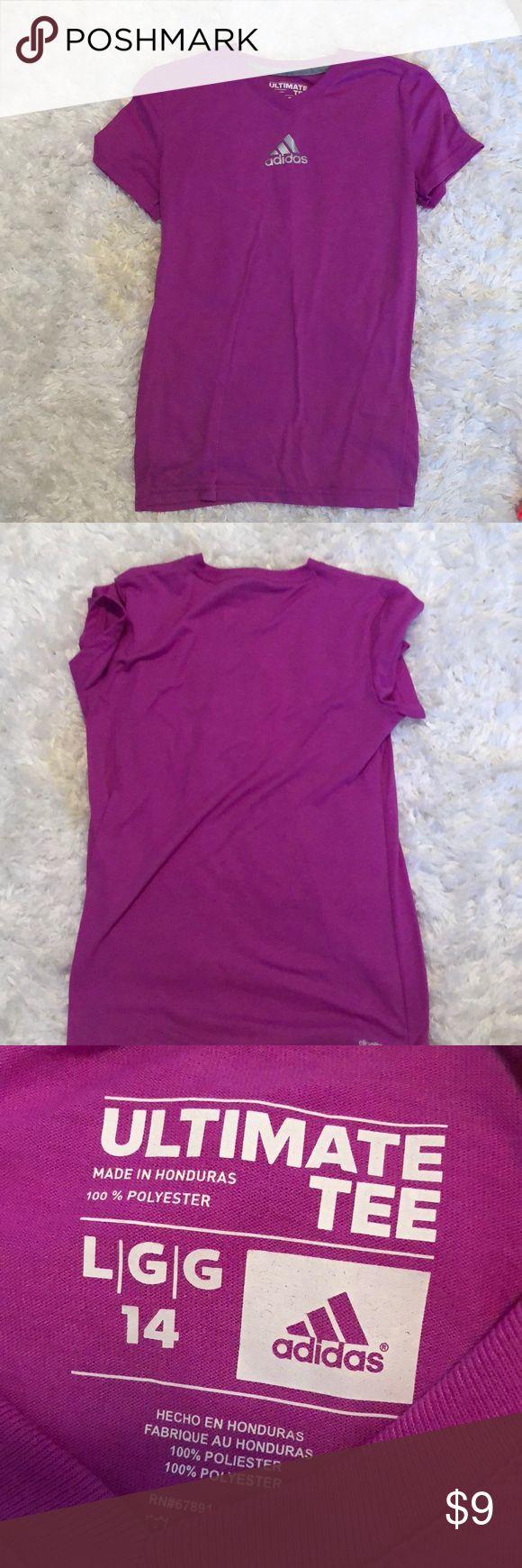 Purple Adidas Ultimate Tee Purple Tee from Adidas, kids large (14), great condition! adidas Shirts & Tops Tees - Short Sleeve