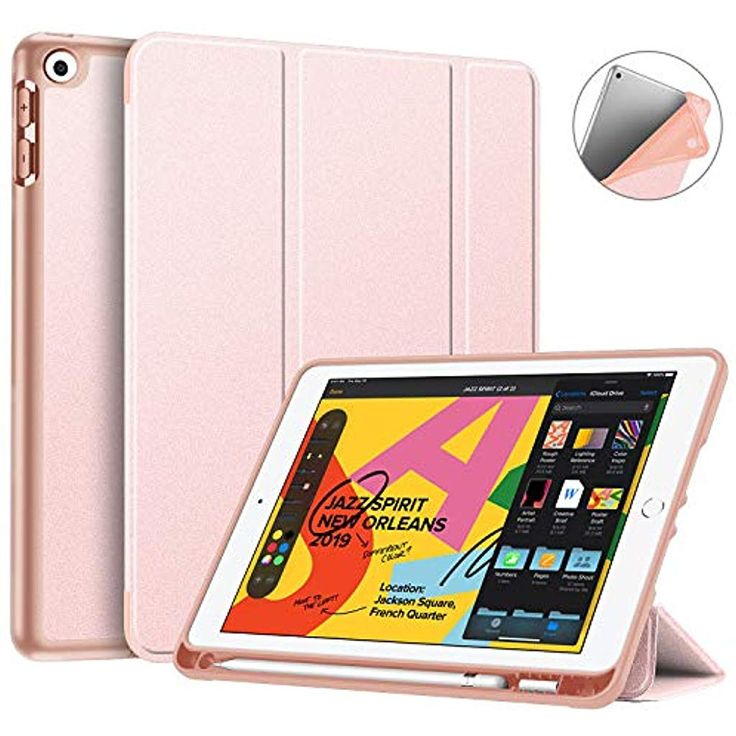 Fintie Hülle Kompatibel mit Neu 2019 iPad 10.2 – SlimShell Superleicht Soft TPU…