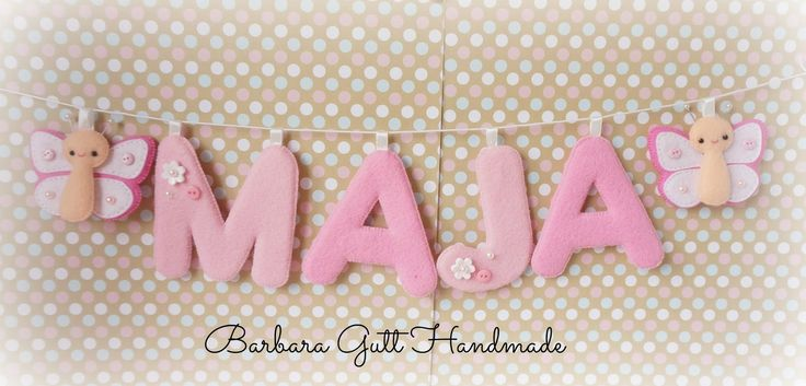 Barbara Handmade...: Filcowe literki / Felt letters